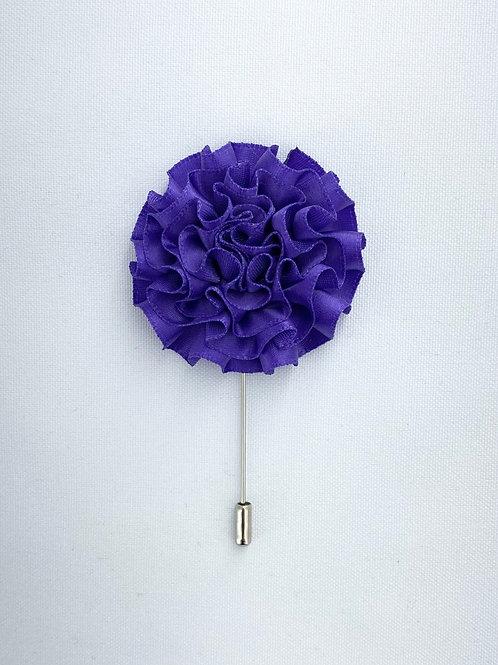 Purple Extended Swirl Lapel Pin