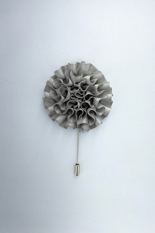 Cool Grey Extended Swirl Lapel Pin