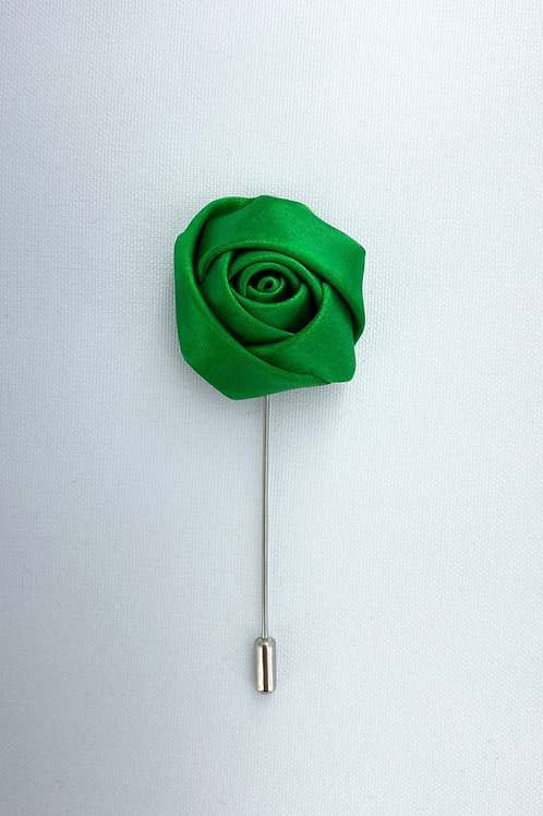 Evergreen Liquid Rosebud Lapel Pin