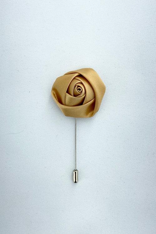 Champagne Liquid Rosebud Lapel Pin