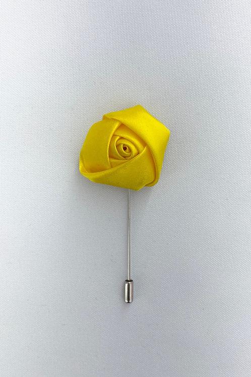 Yellow Liquid Rosebud Lapel Pin