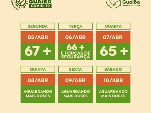 Guaíba recebe mais 4.670 doses e divulga novo cronograma de vacinação