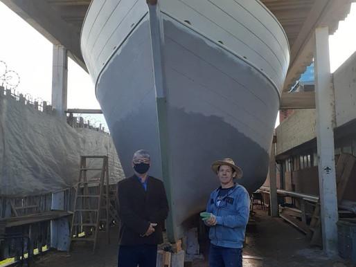 Reconstrução do barco Seival