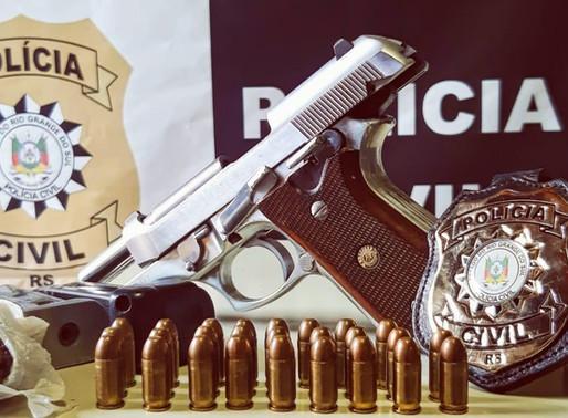 Preso com arma furtada e tráfico no bairro Primavera