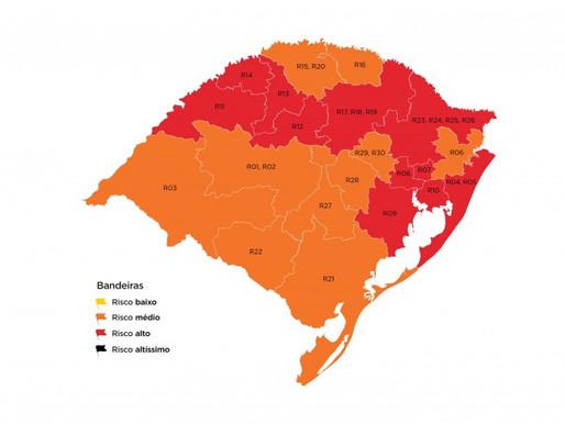 No mapa preliminar, Guaíba volta para a bandeira vermelha
