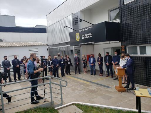 Governador inaugura a nova sede da DP de Guaíba
