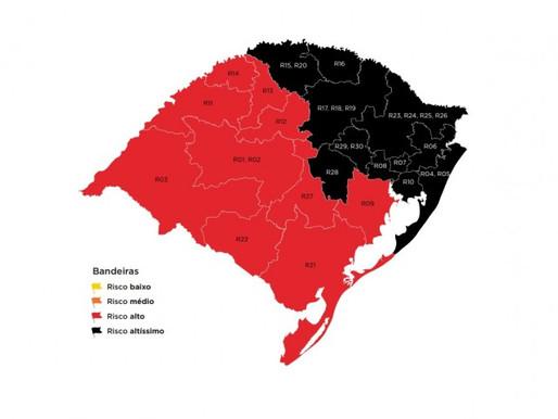 Governador anuncia 11 regiões em bandeira preta