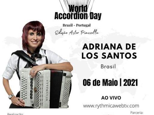 Borghetti e Adriana de Los Santos entre os melhores  acordeonistas do mundo