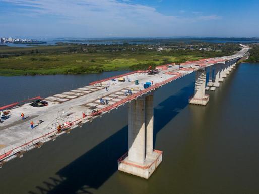 Obras da Nova Ponte do Guaíba alteram acessos ao vão móvel