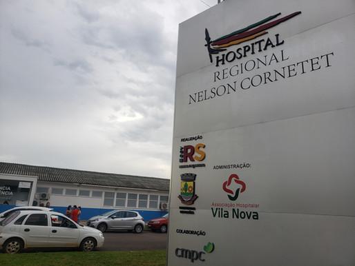 Simers verifica estrutura do Hospital Nelson Cornetet