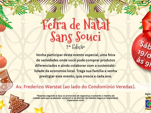 Feira de Natal Sans Souci acontece neste sábado