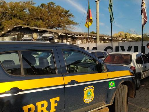 Presa com carro furtado   em Eldorado do Sul