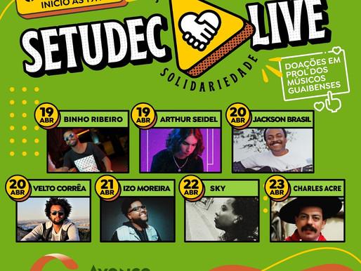 """Projeto """"Setudec Live Solidária""""busca ajudar músicos"""