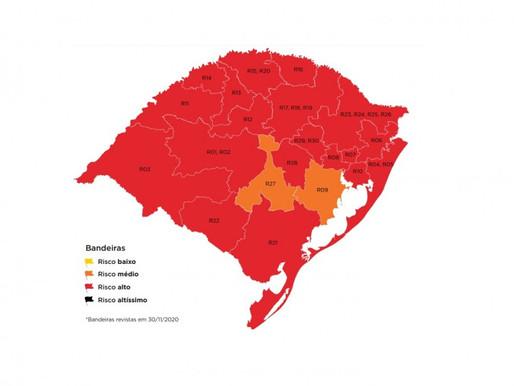 Região de Guaíba e Cachoeira do Sul ficam em bandeira laranja