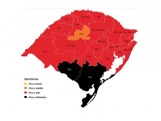 Pela primeira vez, Estado tem regiões em bandeira preta no mapa preliminar