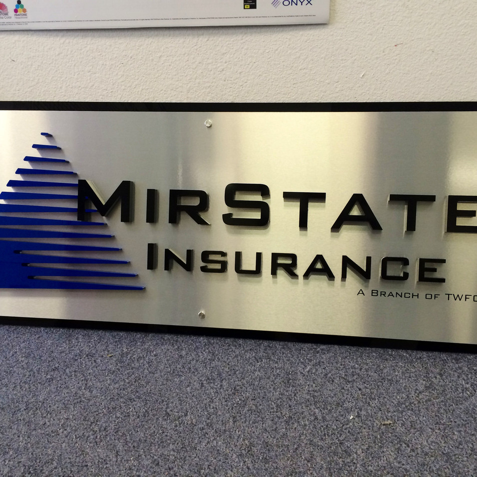 MirState Insurance lobby sign