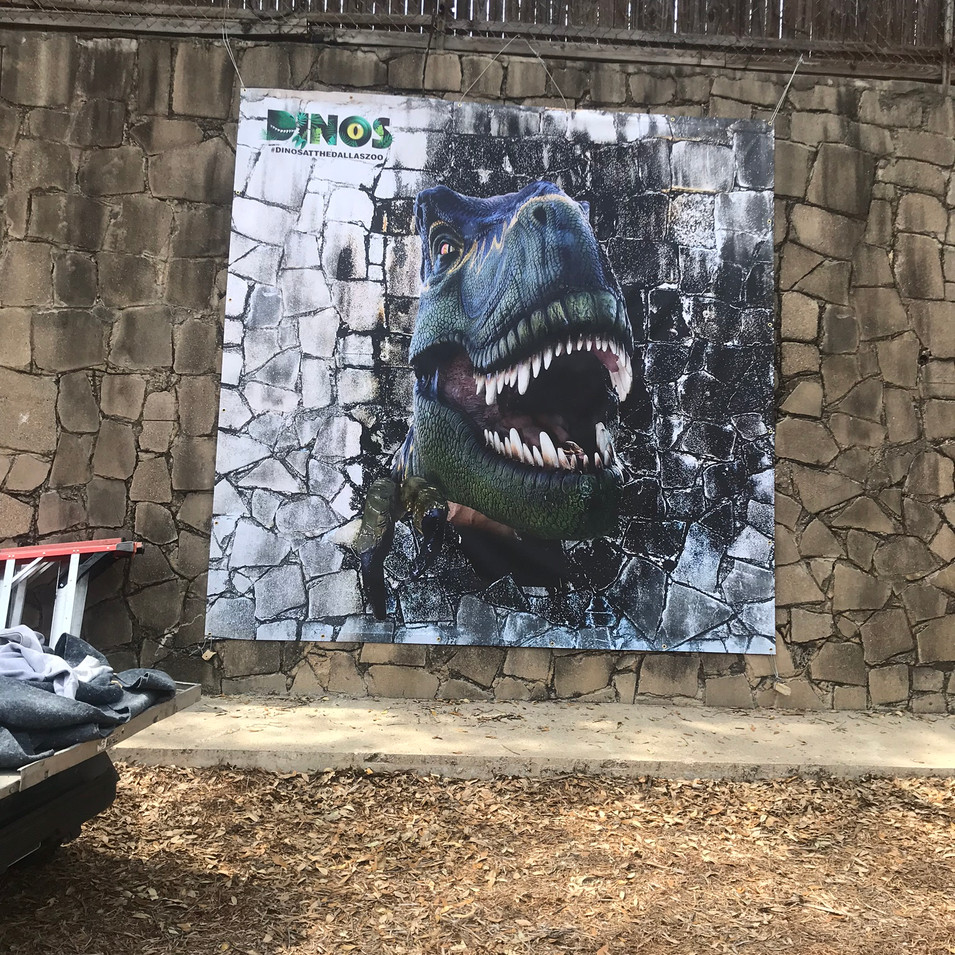 T-rex banner installed