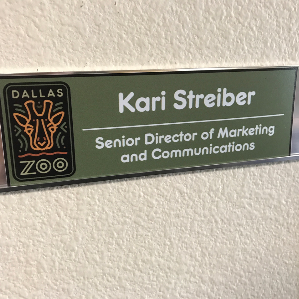 Zoo office name plate