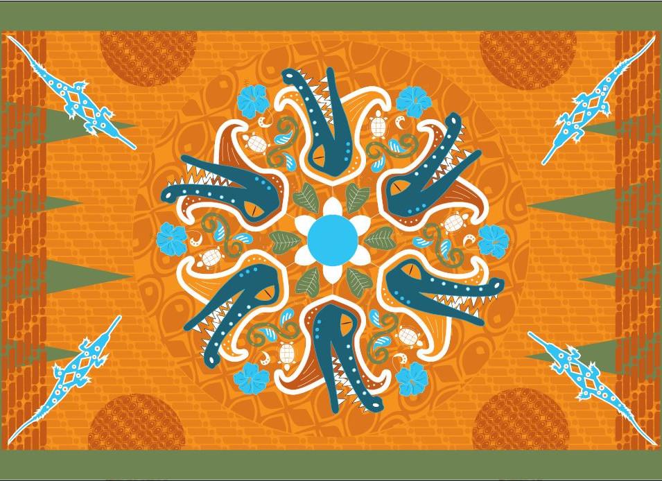 Lobby tapestry