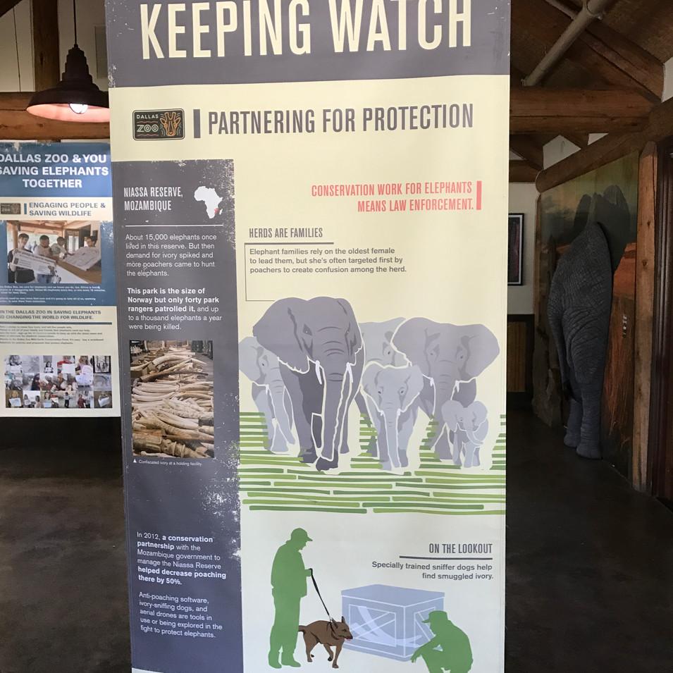 96 Elephants hanging banners