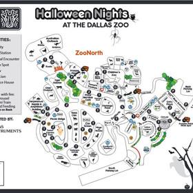 Halloween Nights print map - front