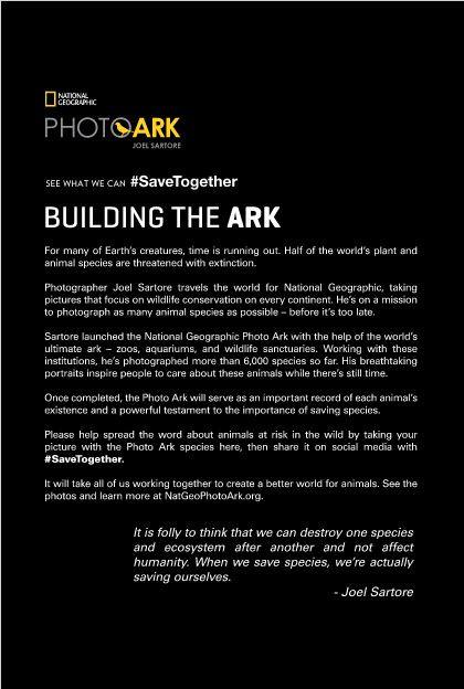 Photo Ark entry panel