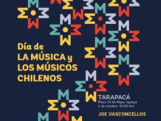 Día de la Música Chilena Tarapacá: Joe Vasconcellos y más