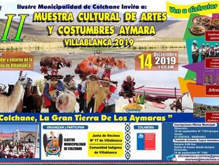 II Muestra Cultural de Artes y Costumbres Aymara Villablanca 2019