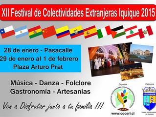 XII Festival de Colectividades Extranjeras. Iquique 2015
