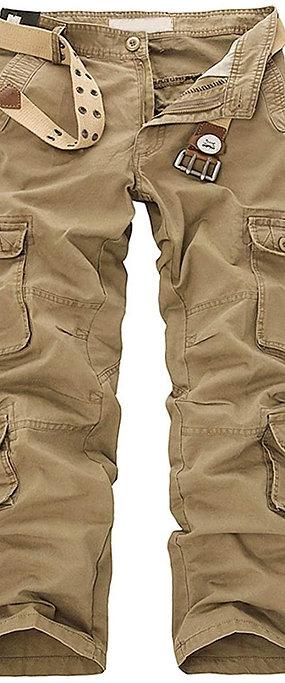 Marque Blanc GCHCR-OEAK Pantalon de Travail Homme