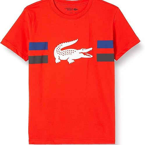 Lacoste T- Shirt Garçon et Filles. Vue de face
