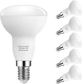 GCHCR-Ampoule Led E14 Lampe, Blanc Chaud 3000K, R50 Led 5W (40W Ampoules Halogèn