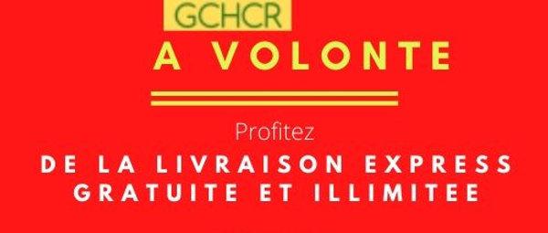 Carte d'Abonnement Livraison produit vendu et expédié par GCHCR