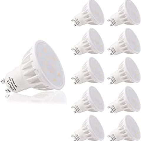 GCHCR- Ampoule LED GU10, LOHAS 6W LED Blanc Chaud, 3000K, 500lm, Equivalente à I
