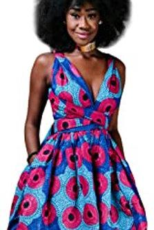 OBEEII Femme Africaine Robe Bohème Élégant 3D