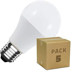 GCHCR-Kennol -LEDKIA LIGHTING Pack 5 Ampoules LED E27 A60 5W Blanc Chaud 2800K -