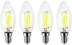 GCHCR-Kennol -Ampoule LED Lampe de bougie LED E12 LED Ampoule filament