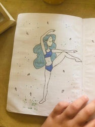 July dancer doodle