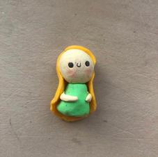 Blonde Girl Keychain/Charm - €5.00