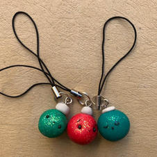 Glittery bauble Charms (assorted)  - €3.00 each