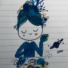 Seaside Girl Watercolour