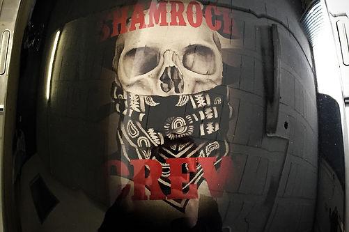 peintre moto rocker-c harley davidson skull