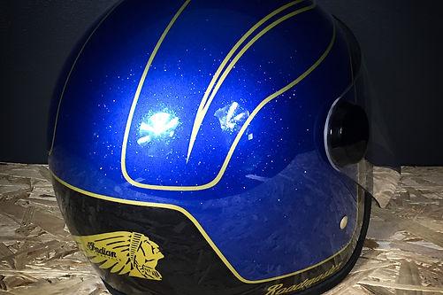 peinture casque hedon indian motorcycle