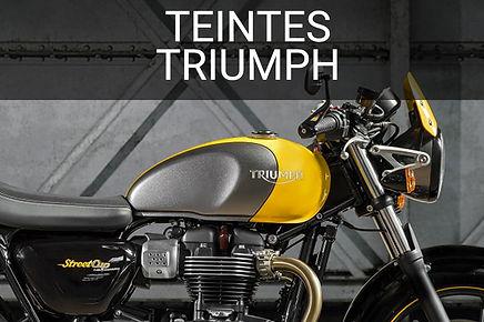 Teintes peinure moto Triumph