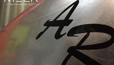 Peinture effet chrome Harley-Davidson