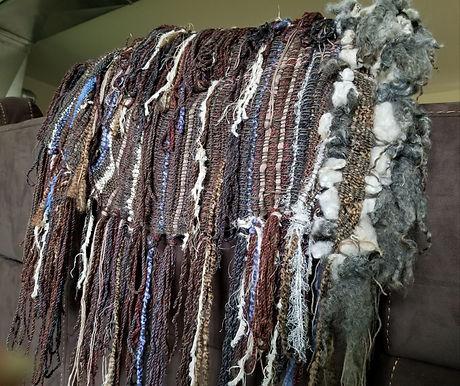 Wall Art - or Wear!  Acrylic yarn with G