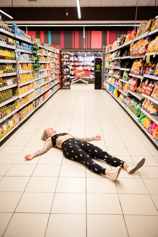 savasana at the supermarket
