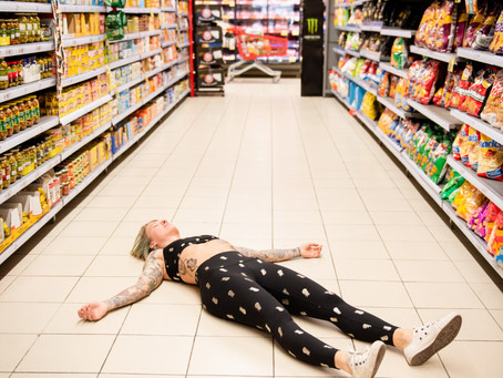 YOGA AT THE SUPERMARKET