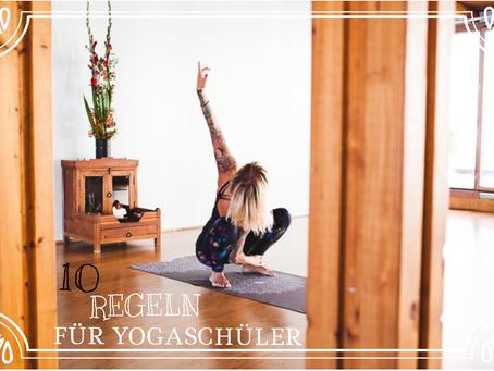 // 10 Regeln für den modernen Yogaschüler //