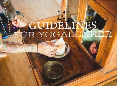 // 10 Guidelines für die moderne Yogalehrerin //